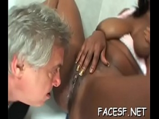 Frisky girl &#039_s muff is nailed well