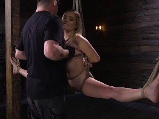 Katie Kush is a sweet and innocent looking slut that's just bratty enough to motivate The Pope to do very nasty things to her