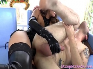 Asian prodomme milf pegging submissive deeply