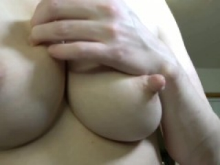 Large natural tits - nipples twisted, tugged, oiled, milked, sucked, bounced