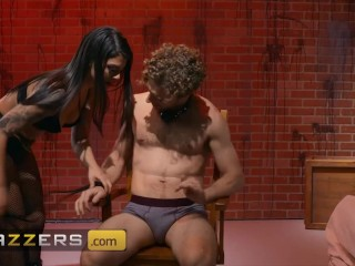 Brazzers - Pretty Chick Gina Valentina Tie Michael Vegas And Fuck Him