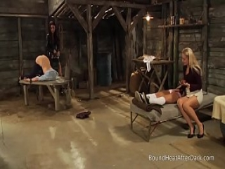 Mistress And Handmaiden: Lesbian 69 And Whipping For Bad Slave