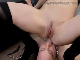 Ass Licker Slave For Cruel Mistress - Facesitting Pussy Worship Femdom and Piss Drinking Toilet Slave