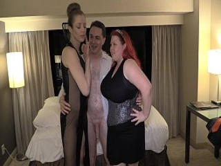 Ballbusting lesson: Lady Victoria NYC and Mistress Summer Storm on Andrea Dipr&egrave_