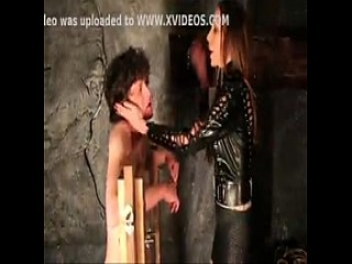 Guilti guy punished hard by crazy mistress