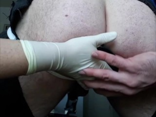 NON-FEMDOM Girl-on-Guy ANAL PLAY:Serious Prostate Milking Toy Play! So Much HARD COCK CUM Dripping!