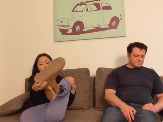stinky feet torment for 24-7 slave by asian dominatrix amrita