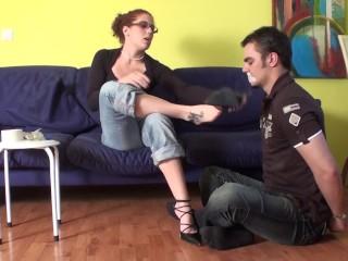 femdom feet sniffing domination