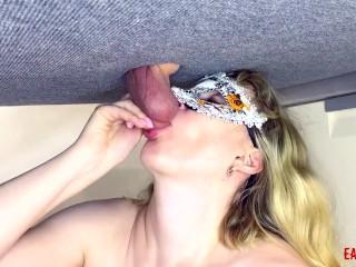 Mistress sucks balls hard causing pain EasyCBTGirl
