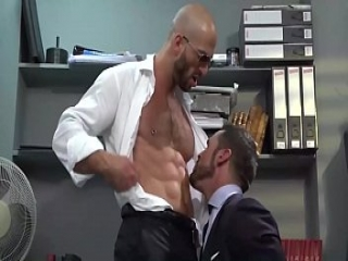 Office sex with nipple play