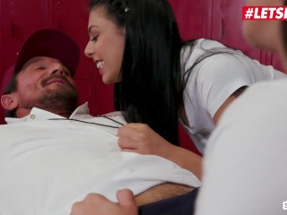 ScamAngels - Gina Valentina, Karlee Grey And Cindy Starfall PAWG American Teens Reverse Gangbang With Their Horny Coach