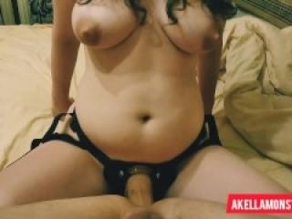 Amateur homemade anal femdom pegging - Missionary pegging POV