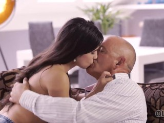 OLD4K. Experienced man assfucks young mistress in all kind of poses