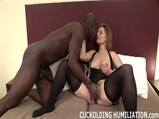 You can watch while I get my fill of big black cock