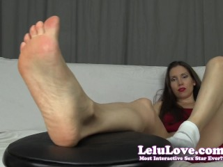 Female Domination babe describes cuckolding you and bisexual blowjob facial JOI with feet and soles worship - Lelu Love