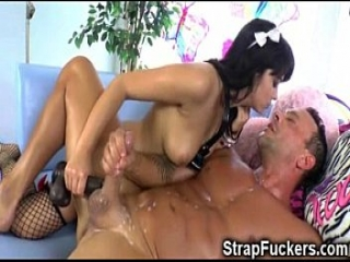 Strapon Slut Made Me Eat My Jizz!