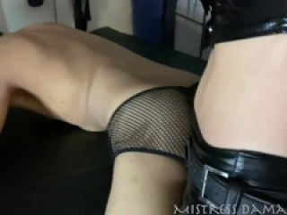Mistress dominates little slave