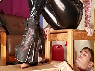 Cock stomping painful cbt in high heels for slave pt1 HD