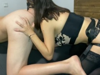 Short version | FEMDOM - Pegging strapon mistress girl rimming Anal BDSM