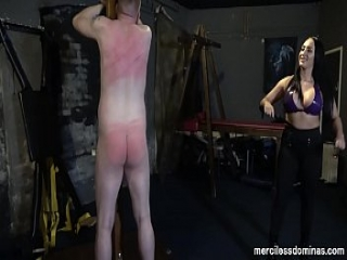 Whipping for Being Late - Punishment from Mistress Rebekka Raynor and Mistress Chloe Lovette