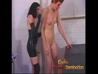 Sexy slave helps her mistress dominate another helpless babe