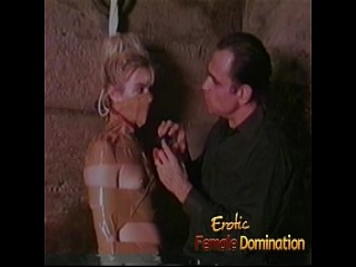 Totally helpless blonde dominated and humiliated in a moldy basement-6