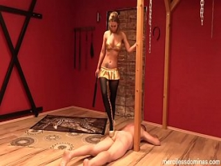 German Discipline - Cruel and Merciless Domination of Lady Deluxe